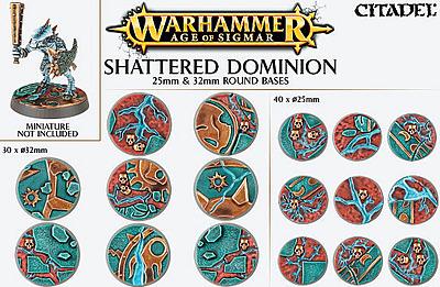 Einfach und sicher online bestellen: Shattered Dominion: 25mm + 32mm Rundbases in Österreich kaufen.
