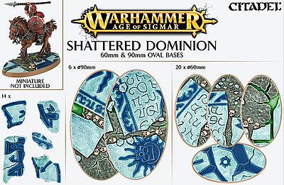 Einfach und sicher online bestellen: Shattered Dominion: 60mm + 90mm Ovalbases in Österreich kaufen.