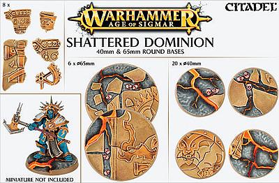 Einfach und sicher online bestellen: Shattered Dominion: 65mm + 40mm Rundbases in Österreich kaufen.
