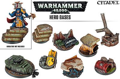 Einfach und sicher online bestellen: Warhammer 40.000 Hero Bases in Österreich kaufen.