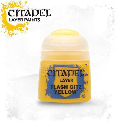 Einfach und sicher online bestellen: Citadel Layer: Flash Gitz Yellow 12 ml in Österreich kaufen.