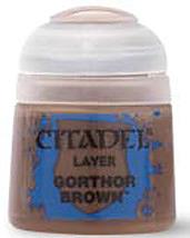 Einfach und sicher online bestellen: Citadel Layer: Gorthor Brown 12 ml in Österreich kaufen.