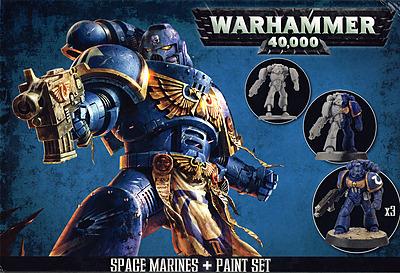 Einfach und sicher online bestellen: Citadel Space Marines + Paint Set in Österreich kaufen.