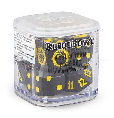 Einfach und sicher online bestellen: Blood Bowl Goblin Dice Set in Österreich kaufen.