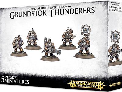 Einfach und sicher online bestellen: Warhammer Kharadron Overlords Grundstock Thunderer in Österreich kaufen.