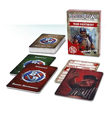 Einfach und sicher online bestellen: Blood Bowl Team-Kartenset Menschen Team in Österreich kaufen.