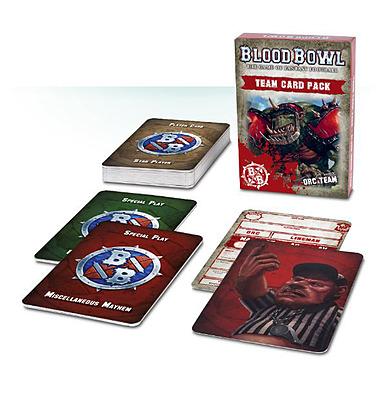 Einfach und sicher online bestellen: Blood Bowl Team-Kartenset Ork in Österreich kaufen.