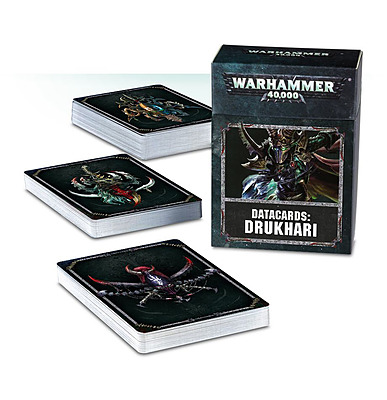 Einfach und sicher online bestellen: Warhammer 40.000 Datacards Drukhari in Österreich kaufen.