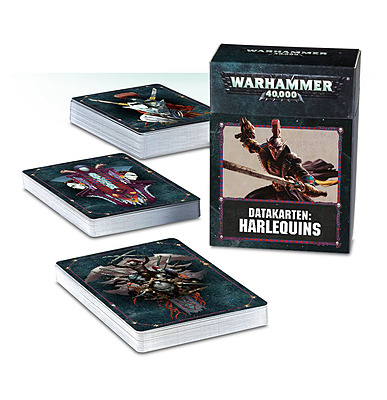 Einfach und sicher online bestellen: Warhammer 40.000 Datacards Harlequins in Österreich kaufen.