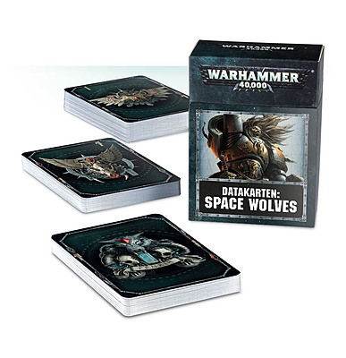 Einfach und sicher online bestellen: Warhammer 40.000 Datakarten Space Wolves in Österreich kaufen.