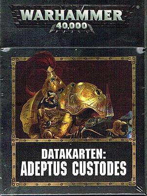 Einfach und sicher online bestellen: Warhammer 40.000 Datacards Adeptus Custodes in Österreich kaufen.