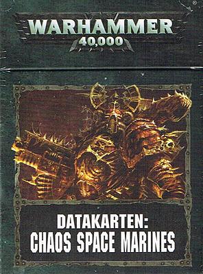 Einfach und sicher online bestellen: Warhammer 40.000: Datacards Chaos Space Marines in Österreich kaufen.