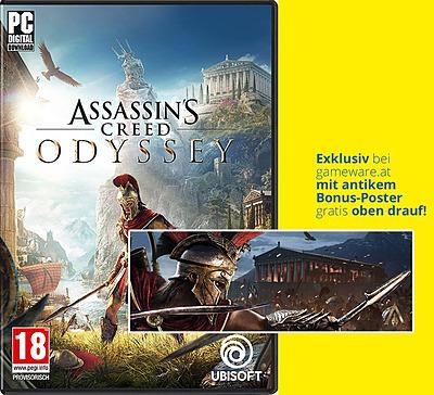 Einfach und sicher online bestellen: Assassin's Creed Odyssey Day 1 Edition (AT-PEGI) in Österreich kaufen.