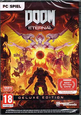 Einfach und sicher online bestellen: DOOM Eternal Deluxe Edition mit 7 Boni (AT-PEGI) in Österreich kaufen.