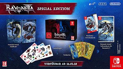 Einfach und sicher online bestellen: Bayonetta 2 Special Edition + Bayonetta 1 DLC in Österreich kaufen.