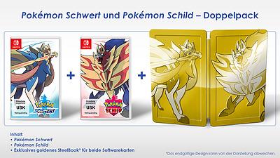 Einfach und sicher online bestellen: Pokémon Schwert + Schild Doppelpack in Österreich kaufen.
