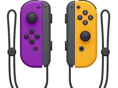 Einfach und sicher online bestellen: Nintendo Switch Joy-Con 2er-Set Lila/Neon Orange in Österreich kaufen.