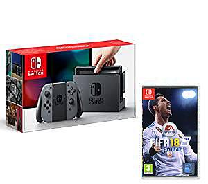 Einfach und sicher online bestellen: Nintendo Switch Grau + Fifa 2018 in Österreich kaufen.