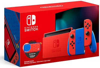 Einfach und sicher online bestellen: Nintendo Switch Mario Red & Blue Edition + Tasche in Österreich kaufen.