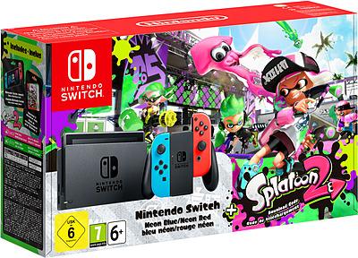 Einfach und sicher online bestellen: Nintendo Switch Neon-Rot/Neon-Blau + Splatoon 2 in Österreich kaufen.