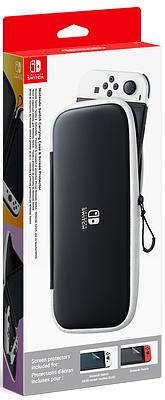 Einfach und sicher online bestellen: Nintendo Switch-Tasche & -Schutzfolie - Schwarz/W in Österreich kaufen.