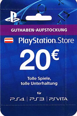 Einfach und sicher online bestellen: PlayStation Store 20 EUR Guthaben-Aufstockung (AT) in Österreich kaufen.