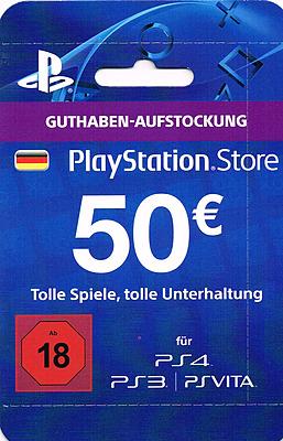 Einfach und sicher online bestellen: PlayStation Store 50 EUR Guthaben-Aufstockung (DE) in Österreich kaufen.