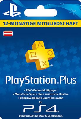 Einfach und sicher online bestellen: PlayStation Plus 365 Tage - Österreich in Österreich kaufen.