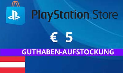 Einfach und sicher online bestellen: PlayStation Store 5 EUR Guthaben (AT) in Österreich kaufen.