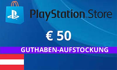 Einfach und sicher online bestellen: PlayStation Store 50 EUR Guthaben (AT) in Österreich kaufen.