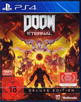 Einfach und sicher online bestellen: DOOM Eternal Deluxe Edition mit 6 Boni (AT-PEGI) in Österreich kaufen.