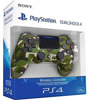 Einfach und sicher online bestellen: Controller DualShock 4 Camouflage V2 Grün/Grau in Österreich kaufen.