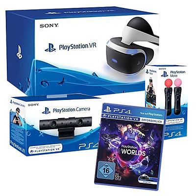 Einfach und sicher online bestellen: PlayStation VR + Kamera + Move Twin + VR Worlds in Österreich kaufen.