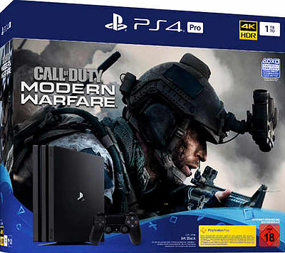 Einfach und sicher online bestellen: PlayStation 4 Pro 1TB Jet Black +Call of Duty: MW in Österreich kaufen.