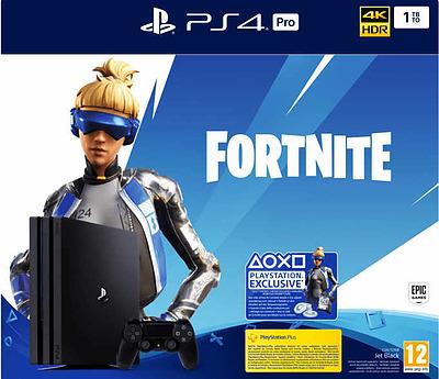 Einfach und sicher online bestellen: PlayStation 4 Pro 1TB Jet Black Fortnite Bundle in Österreich kaufen.