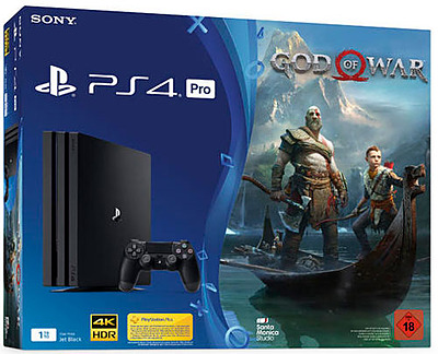 Einfach und sicher online bestellen: PlayStation 4 Pro 1TB Jet Black & God of War in Österreich kaufen.