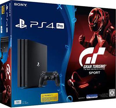 Einfach und sicher online bestellen: PlayStation 4 Pro 1TB Jet Black & GT Sports in Österreich kaufen.
