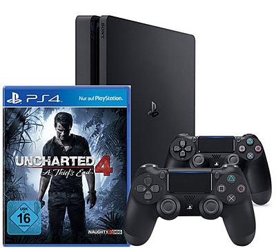 Einfach und sicher online bestellen: PlayStation 4 (Slim) 1TB Uncharted 4 Bundle in Österreich kaufen.