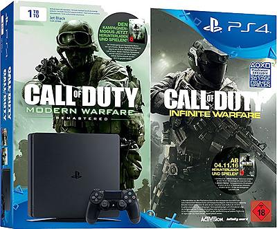 Einfach und sicher online bestellen: PlayStation 4 (Slim) 1TB Call of Duty Bundle in Österreich kaufen.