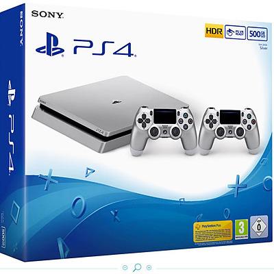 Einfach und sicher online bestellen: PlayStation 4 (Slim) 500GB silver + 2 Controller in Österreich kaufen.