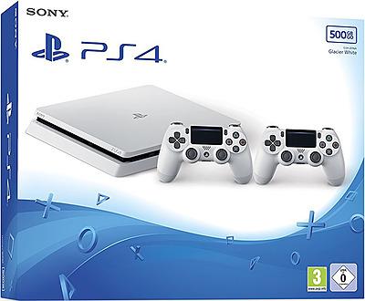 Einfach und sicher online bestellen: PlayStation 4 (Slim) 500GB weiß + 2 Controller in Österreich kaufen.