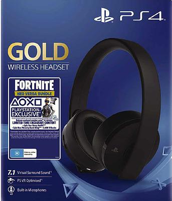 Einfach und sicher online bestellen: PS Wireless Stereo Headset Gold Edition + Fortnite in Österreich kaufen.