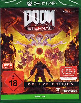 Einfach und sicher online bestellen: DOOM Eternal Deluxe Edition mit 4 Boni in Österreich kaufen.