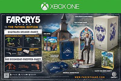 Einfach und sicher online bestellen: Far Cry 5 The Father's Edition + 6 DLCs (AT-PEGI) in Österreich kaufen.