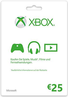 Einfach und sicher online bestellen: Xbox Live 25 Euro in Österreich kaufen.