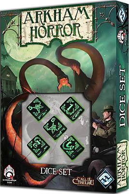 Einfach und sicher online bestellen: Arkham Horror Dice Set schwarz in Österreich kaufen.