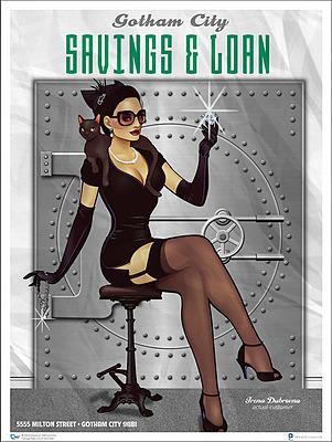 Einfach und sicher online bestellen: DC Comics Bombshells Kunstdruck Catwoman in Österreich kaufen.