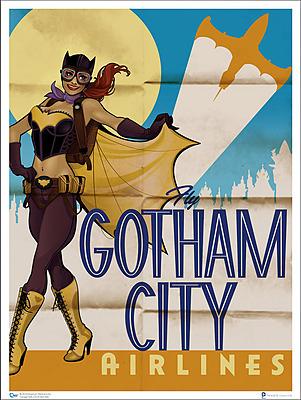Einfach und sicher online bestellen: DC Comics Bombshells Kunstdruck Batgirl in Österreich kaufen.