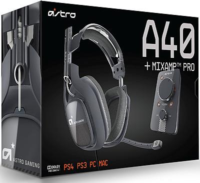 Einfach und sicher online bestellen: Astro Gaming A40 Headset Dark Grey inkl. MixAmp in Österreich kaufen.