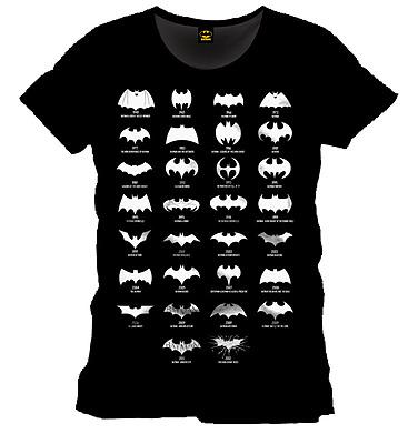 Einfach und sicher online bestellen: Batman T-Shirt Logo Evolution Größe XL in Österreich kaufen.